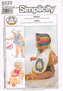 Simplicity 9222 Babies Accessories Sewing Pattern
