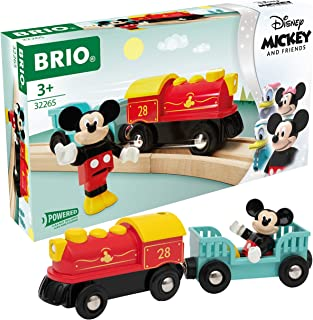 Brio 32265 Disney Mickey and Friends: Mickey Mouse Battery Train   Wooden Toy Train Set for Kids Age 3 and Up - Amazon Exc...