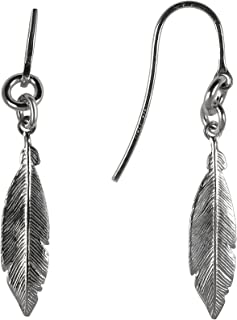 GiftsFromTheHeart 925 Sterling Silver Women's Feather Earrings