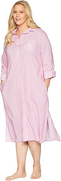 Plus Size Long Sleeve Roll Cuff Ballet Sleepshirt