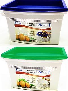 Schulz Boîte de rangement pour pommes de terre avec couvercle pratique