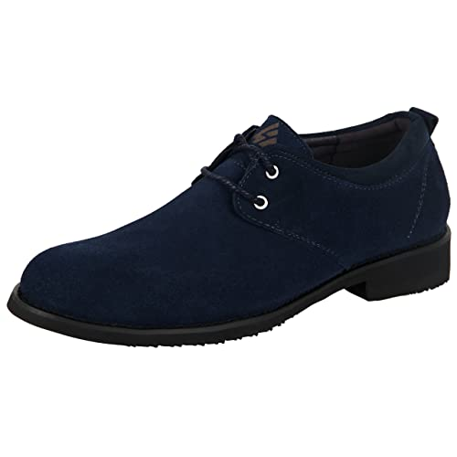 0026b0846d iLoveSIA Men's Brouge Leather Suede Casual Oxford Shoes