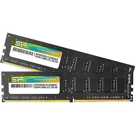 シリコンパワー デスクトップPC用 メモリ DDR4 2666 PC4-21300 8GB x 2枚 (16GB) 288Pin 1.2V CL19 SP016GBLFU266B22