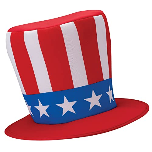67202cd1e439 USA Uncle Sam Hat United States of America Fancy Dress Cosplay Add-on