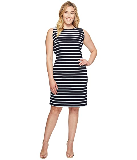 890f0a9a70 Calvin Klein Plus Plus Size Sleeveless Textured Stripe Dress at 6pm