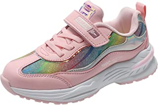 Sponsored Ad - kulebear Kids Sneakers Breathable Running Tennis Shoes Walking Sport Casual Twinkle Glitter Shoes for Girls