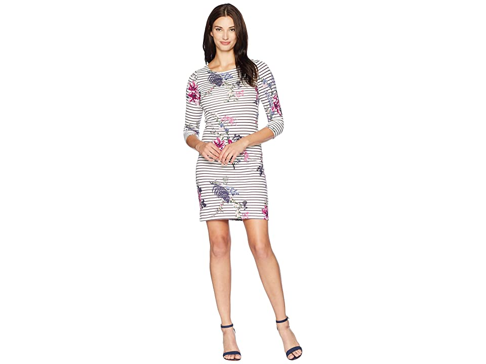 Joules Riviera Printed Jersey Dress (Harvest Floral Plum Stripe) Women