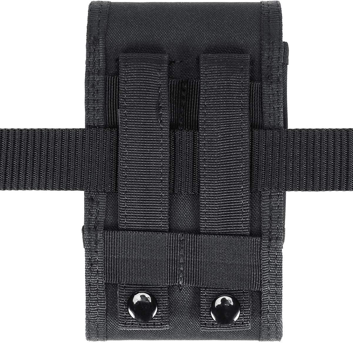 IronSeals Double Capacity Phone Holster, Tactical Molle Pouch Compact Belt Waist Bag for iPhone 13 Pro Max/13 Pro/13/12 Pro Max/12 Pro/12/11 Pro Max/XS Max/XR/XS/X, Samsung S10/S9 Plus/S9, Size Large