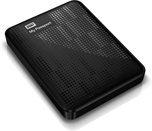 WD My Passport 1TB USB 3.0 Portable External Hard Drive (Black) product image