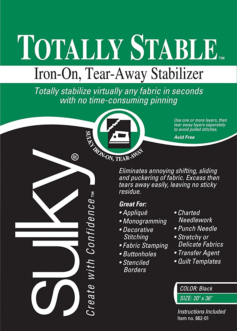 Sulky Of America Totally Stable Iron-On Tear-Away Stabilizer, 20