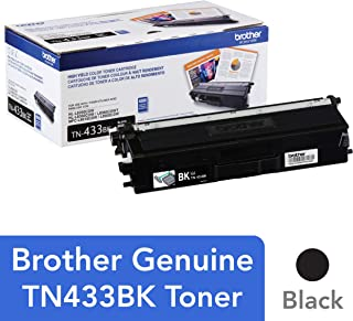 Brother Genuine TN433BK High Yield Toner-Retail Packaging , Black