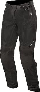 Stella Wake Air Textile Street Motorcycle Over Pants (L, Black Black)