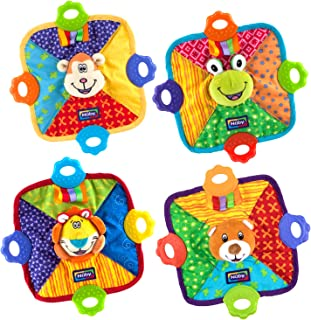 Nuby Teething Blankie, Characters May Vary, 1pk