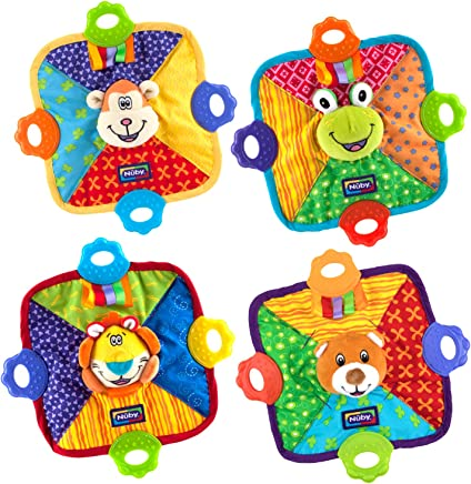 Nuby Teething Blankie - Characters May Vary - Pack of 1