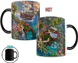 Morphing Mugs Disney - Peter Pan Neverland - Heat Reveal Color Changing Ceramic Coffee Mug - 11 Ounces