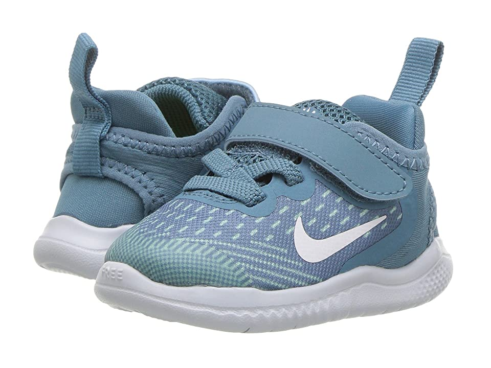 Nike Kids Free RN 2018 (Infant/Toddler) (Noise Aqua/White/Igloo/Pure Platinum) Girls Shoes