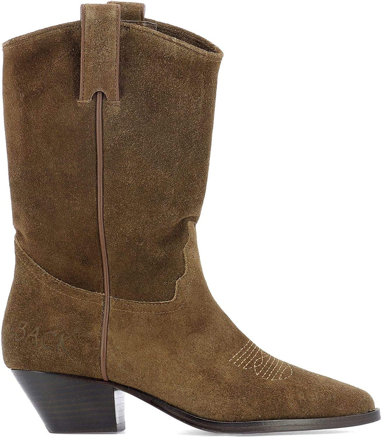 Ash Women's FIRE04 Brown Suede Ankle Boots