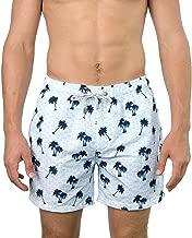 The Endless Summer Men's Palmtree Print Quick Dry Swim Trunks