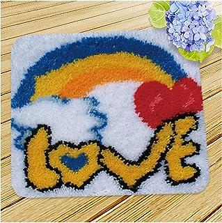 Tapis Faire des Kits Crochet De Loquet, Motif Imprimé Coussin De Coussin De Broderie, Kit De Fil De Crochet Bricolage pour...
