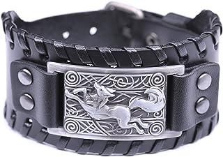 fishhook Celtic Knot Fox Smart Symbol Bangle Talisman Amulet Leather Bracelet