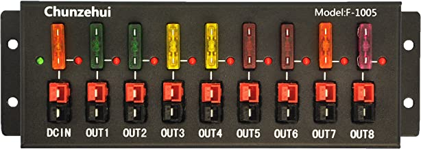Chunzehui F-1005 9 Port 40A Connector Power Splitter Distributor Source Strip, 1 Input and 8 Output.