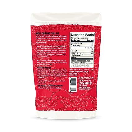 Lakanto Classic Monkfruit Sweetener - 1:1 White Sugar Substitute, Zero Calorie, Keto Diet Friendly, Zero Net Carbs, Zero Glycemic, Baking, Extract, Sugar Replacement (Classic White - 1.76 lbs)