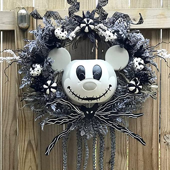 Pumpkin Wreath Decor, Fall Pumpkin Door Wreath, Garland Artificial Pumpkin Maple Leaf Hanging Decoration, Halloween Wall Door Hanging Ornament Wreath Outdoor Decor-B