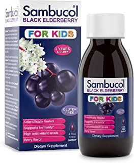 Sambucol Black Elderberry Syrup For Kids Berry Flavor - 120 ml