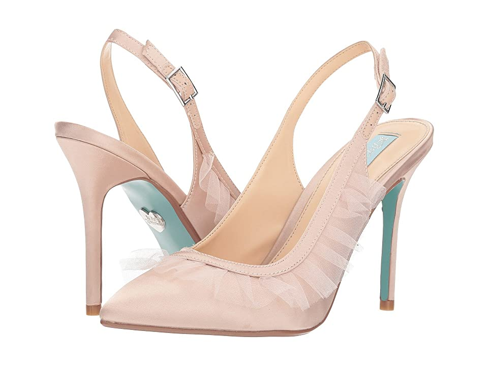 Blue by Betsey Johnson Mia (Nude Satin) High Heels