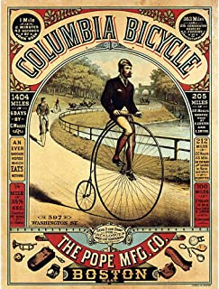 Wee Blue Coo Penny Farthing Bicycle Boston USA Vintage Advertising Retro Unframed Wall Art Print Poster Home Decor Premium