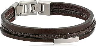Fossil Multi Strand Leather Bracelet