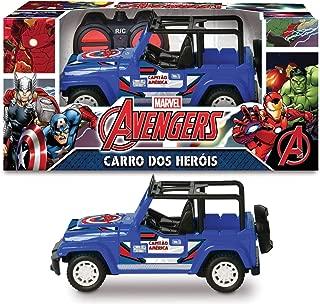 Capitão América R/c 7 Fun Pilha Mimo Brinquedos Azul