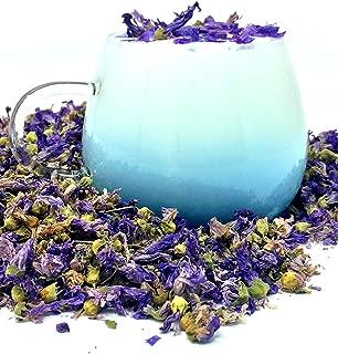 Organic Blue Mallow Flowers - Color-Changing Blue Herbal Tea | 100% Dried Blue Mallow Flowers - Malva sylvestris | Net Weight: 0.5oz / 15g