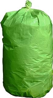 USA-Made Durable Facilities Maintenance Quality Trash Bags (40-45 Gallon, GREEN)