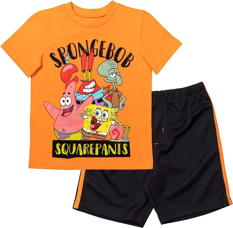 Sale item Nickelodeon Spongebob Squarepants Boys 5% OFF Mesh Shorts Set T-Shirt