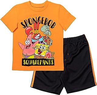 Nickelodeon Spongebob Squarepants Boys T-Shirt Shorts Set Mesh