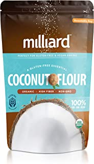Milliard Organic Coconut Flour (5 lb) Batch Tested Gluten-Free, Non-GMO and Vegan 100% Pure High Fiber