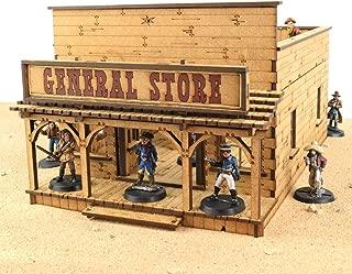 War World Gaming Wild West General Store – Up to 35mm Scale Wargame MDF Terrain Scenery Skirmish Exodus Old Western Model Diorama Tabletop Miniature Wargaming Game