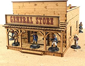 War World Gaming Wild West General Store – Up to 35mm Scale Wargame MDF Terrain Scenery Skirmish Exodus Old Western Model Diorama Tabletop Miniature Wargaming Game