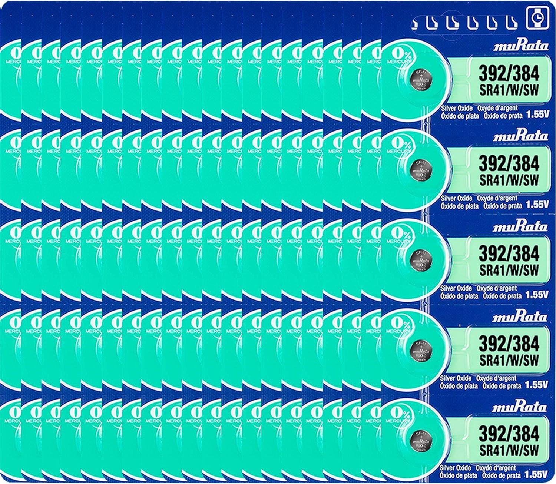 Murata 392 Max 78% OFF 384 SR41 W SW New life Silver Battery Oxide Watch 1.55V Button