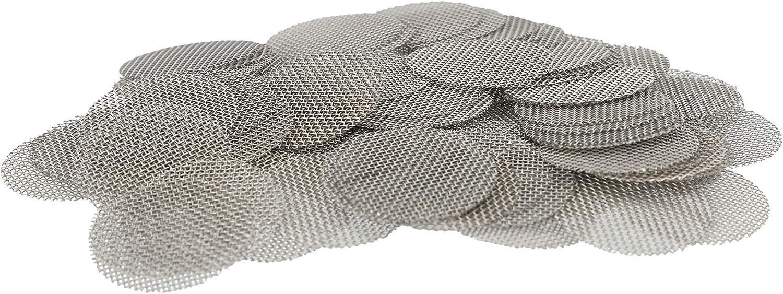 Aryva Rejilla Cedazo Filtro por Bong y Cachimba deMallaMediana | Diámetro Ø = 12,5 mm | Adecuado por Bongs y por pequeñas Cazoletas Cabezal Narguile | Pack de 100 (12.5mm)