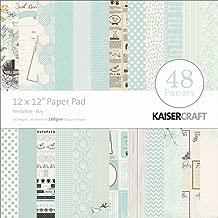Kaisercraft Paper Pad 12 by 12-Inch, Peekaboo Boy, 48/Pack