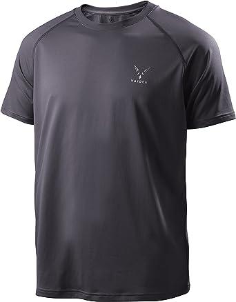 Vaiden Perno Camiseta de Deporte de los Hombres – Plata tecnología – Suelto, Ajuste cómodo – antiolor, la Humedad, Transpirable, Secado rápido, ...