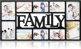 ARPAN Family-Marco 10 Fotos, Negro, L71 x D36 x H3 Cm