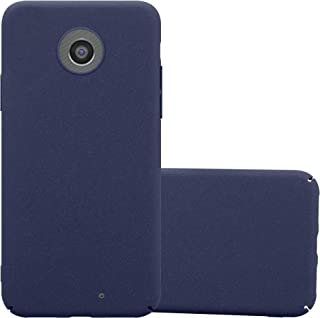 Cadorabo Case Works with Motorola Moto G2 in Frosty Blue – Shockproof and Scratch Resistent Plastic Hard Cover – Ultra Slim Protective Shell Bumper Back Skin