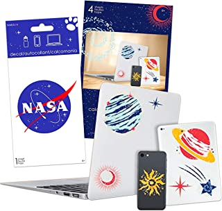 NASA Space Sticker Set NASA Decal Sticker Bundle - 12 Pc NASA Space Party Decorations Wall Decor Space Room Decorations (S...