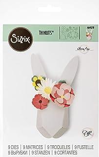 Sizzix Matrice de découpe Thinlits Set de 9pcs 664378 Lapin Origami de Olivia Rose, Multicolore, Taille unique