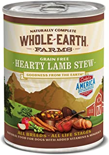 Whole Earth Farms Grain Free All Breed All Life Stages Wet Dog Food, 12.7 oz Can, Case of 12