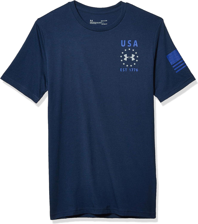 Under Armour Year-end annual account Men's Freedom USA Cheap Sleeve Short T-Shirt Emblem