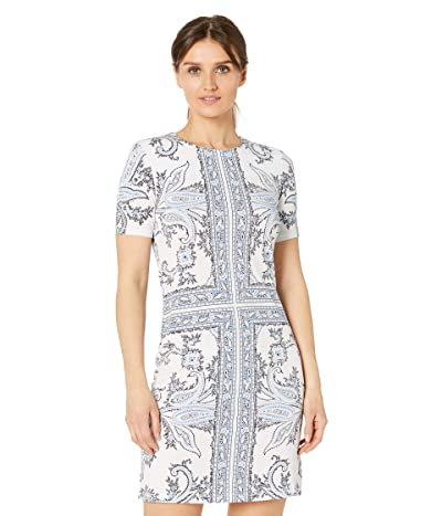 MICHAEL Michael Kors Petite Scarf Print Crew Neck Dress Women